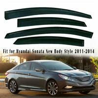 4x Window Visors Tape On Rain Guard Deflector Shade For Hyundai Sonata 2011-2013