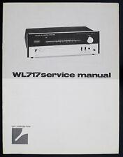 Luxman wl717/wl-717 ORIGINAL AM/FM Multiplex Stéréo Tuner service-manual/Diagram