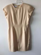 Jones New York Dress Silk Butterscotch Yellow Lined Women's 12 Petite