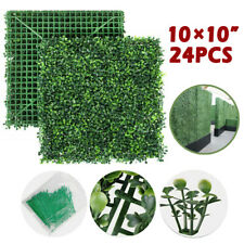 Privacy Screen Artificial Grass Green Wall Boxwood Hedge Topiary Fence 24x10*10