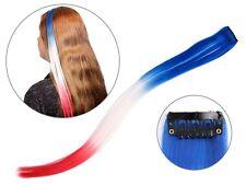 Extension clip per capelli nei colori della bandiera di Francia (00/1004)