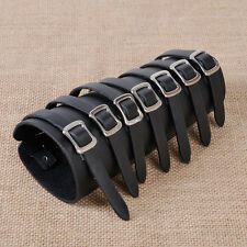 7 Buckle Punk Leather Costume Bracer Arm Armor Cuff Wristband Men Cosplay Wrap