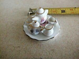 White Snow Owl Miniature Tea Set 1997 Popular Imports TS597 8 Piece