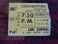 Led Zeppelin Ticket Stub Asbury Park Jimmy Page Aug.16th 1969 Woodstock RARE!!!!