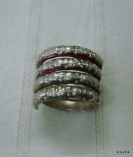 vintage antique ethnic tribal old silver ring belly dance jewelry india