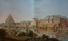 Palaces of the Assyrian kings in Nimrud  ...Antique Chromolithograph....1908