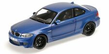 Bmw 1ER M Coupe' 2011 Blue Metallic 1:18 Model MINICHAMPS