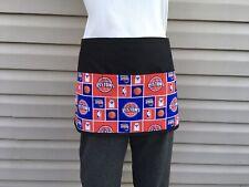 Detroit Pistons Black Sports server waitress waist apron 3 pocket restaurant