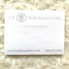 The Heathman Hotel Notepad Sticky Notes Pad Office Supply Writing Portland OR