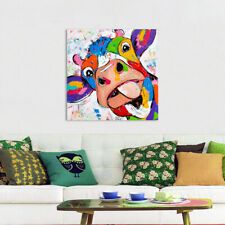 Animal Picture Canvas Painting Cow For Living Room Print Posters