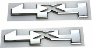 2pcs 4x4For GMC Canyon Sierra Fender Pickup Badge Emblem Silverado Chrome
