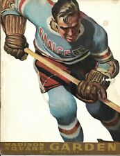 New York Rangers - Montreal Canadiens 7.02.1960 NHL Official Program