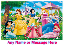 Personalised Childrens A4 Placemat / Dinner Mat With Puzzles Disney Princess