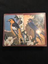Vintage Playing Cards Stardust Double Deck Pinochle Birds Original Plastic Case