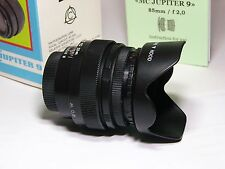 JUPITER-9 MC 2/85mm For all Cameras with M42 Mount or other SLR/DSLR in BOX