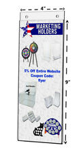 """Clear Acrylic Wall Mount Ad Frame Sign Holder  4""""W x 9""""H"""
