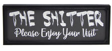 Funny-Shitter Toilet Sign Wall Hanging Bathroom Restroom Plaque Word Art Gift