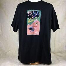 Acme Clothing Co Ski Mars Mens XXL Shirt Black Marvin the Martian Warner Bros M3