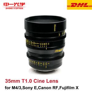 Zhongyi Mitakon Speedmaster Cinema Lens 35mm T1.0 for M4/3 Sony Canon Fujifilm X