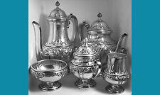 sterling silver Tea Coffee set by Frank M Whiting Bride'S Basket design no mono