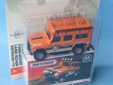 MATCHBOX LAND ROVER DEFENDER 110 orange 65th jouet voiture modèle 70 mm de BP