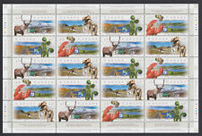 CANADA 1998 Scenic Highways Sheet of 20 MNH Face $9.00 Lobster Dinosaur Caribou