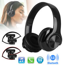 Foldable Wireless Bluetooth Headphones Stereo Earphones Bass Headset W/Mic IPX5