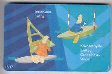 EUROPE  TELECARTE / PHONECARD .. GRECE 3€ OLYMPIQUE CANOE WINDSURF 09/03  PUCE