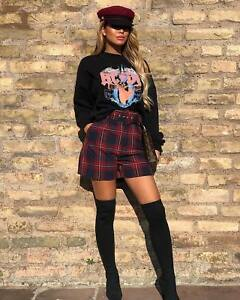 Zara Check Bermuda Shorts Size SMALL BNWT