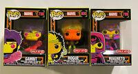Funko Pop Gambit Magneto & Rogue Marvel Blacklight 798 799 800 Target Exclusive