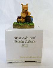 Disney Lenox Thimble ~ Pooh with Honey Notes ~ Winnie the Pooh Figurine NIB