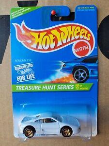 Hot Wheels 1996 - FERRARI F355 [WHITE] TREASURE HUNT MINT VHTF CARD GOOD