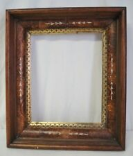 Victorian Eastlake Deep Well 8x10 Photo Picture Frame Burl Gold Gilt Shadow Box
