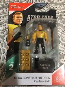 Mega Construx Star Trek Captain Kirk 19 PCS Series 2 New in Package