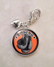 925 Sterling Silver Charm Boxing gloves Pugilism  MMA martial arts