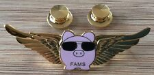 """FAMS - Federal Air Marshals Service - """"FLYING PIG"""" lapel pin with double clutch"""
