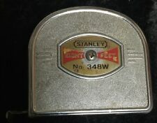 Vintage Collectible Stanley No. 348w Eight Foot Measuring Tape Ruler Tool U.S.A