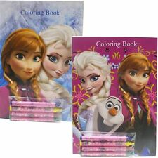Disney Frozen Coloring Books Elsa Anna and Olaf (2 Books)-Brand New! v1