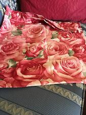 LAUNDRY BAG SHABBY CHIC COTTAGE ROSES 21 X 19 HAND BAG DUST COVER (Mia)