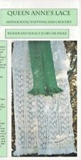 STUNNING LACE WOODLAND SOLACE SCARF OR STOLE to KNIT by ANNE CORCORAN