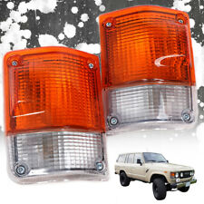 Fit 81-89 Toyota Land Cruiser: FJ60 FJ62 BJ60 HJ60 HJ62 Front Corner Lights Lamp