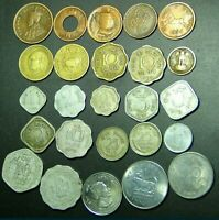 BRITISH INDIA - PRINCELY STATES - REPUBLIC INDIA - 25 COINS LOT RARE COLLECTION