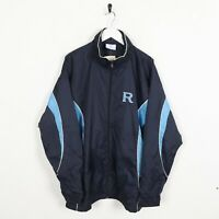 Vintage CHAMPION Small Logo Windbreaker Jacket Navy Blue | Medium M