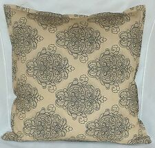 "Cushion Cover Zip Retro country beige Cotton Home Sofa Decor UK 18"" Pillow Case"