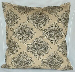 "Cushion Cover Retro country beige Cotton Home Sofa Décor UK 18"" Pillow Case X5"