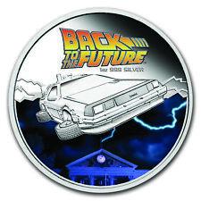 2015 Back to the Future Silver Proof Coin & Car 1oz - w/ original paperwork COA