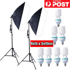135W Bulb Photography Studio Softbox Continuous Lighting Stand Kit Soft Box New
