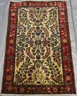 ANTIQUE FLORAL HAND KNOTTED LILIHANN WOOL IVORY ORIENTAL RUG HAND WASHED 2.7 x 4
