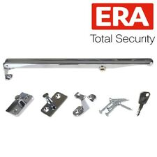 Chrome 10//260mm Window Casement Stay Victorian Style Handle Pull//Lock Catches