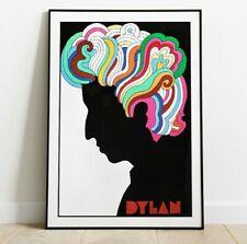 Bob Dylan Gig Poster, Retro Concert Poster, Rock Band Print, Wall Art